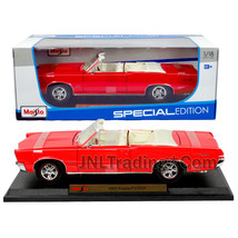 Maisto Special Edition 1:18 Die Cast Car Red Convertible Coupe 1965 PONTIAC GTO - $44.99