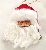 "Red 3"" Santa Figurine Head With White Beard - $6.71"