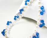 White freshwater pearl bracelet blue swarovski faceted crystals 8 inch 4b8014b2 1  thumb155 crop