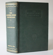 The Modern Home Physician 1938 Medical Green Hardback Hardcover Book - $9.95