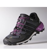 adidas Outdoor Terrex Boost Women's Mountain Running Shoes Grey/Black/Purple, 10