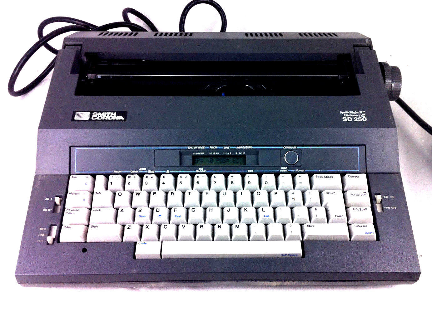 Smith Corona SD 250 Electric Typewriter Return Key Not Working