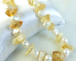 E gemstone nugget white freshwater pearl bracelet yellow 8 inch b4848e57 607572 1  thumb155 crop