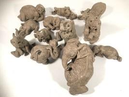 The Herd by Martha Carey Elephant Figurine Lot Of 12 Popcorn Peanut Wild... - $197.99