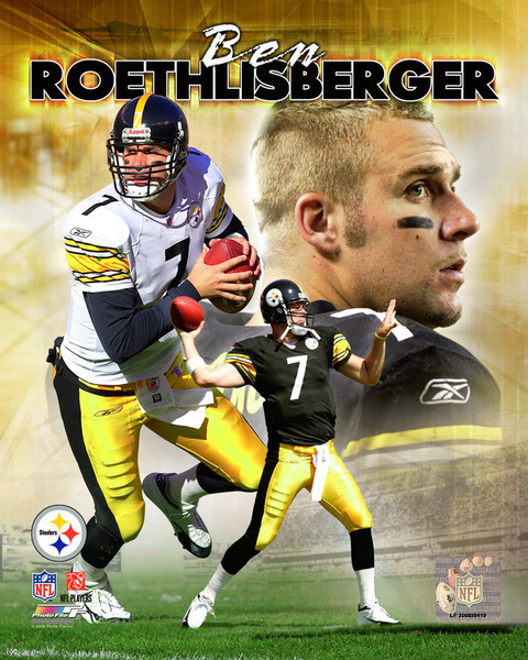 Primary image for Ben Roethlisberger PP Pittsburgh Steelers  8X10 Color Football Memorabilia Photo