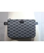 Michael Kors MK Logo waist belt bag gray synthetic leather zipper size M - $49.48