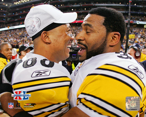 Primary image for Hines Ward  Jerome Bettis SB 40 Pittsburgh Steelers  8X10 Color Football Photo