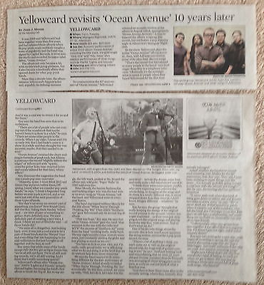 Primary image for Yellowcard Ocean Avenue clip/clipping/article - The Morning Call February 1 2014