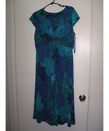 Women's Jones New York  Dress Size 12 -  Blue/Aqua - $49.99