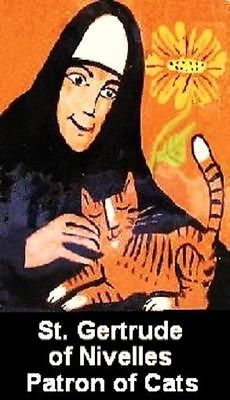 Primary image for Saint Gertrude of Nivelles Patron of Cats Magnet #1