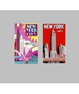 2 New York City Travel Magnets - $10.99