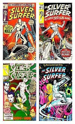 Primary image for The Silver Surfer - 4 Comic Book Cover Art Magnets