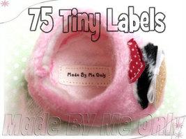 75 Labels Tiny White Clothing Iron on or Sewn i... - $21.99