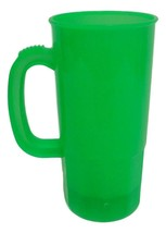 6 Lg Light Green 22 Oz Beer Mugs Made USA Lead Free Beer Steins Tops in ... - $29.56