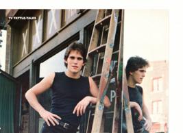 Matt Dillon Tom Cruise teen magazine pinup clipping black muscle shirt hands hip
