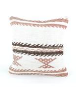 18x18 large white pillow white kilim pillow white pillow case home wihit... - $19.00