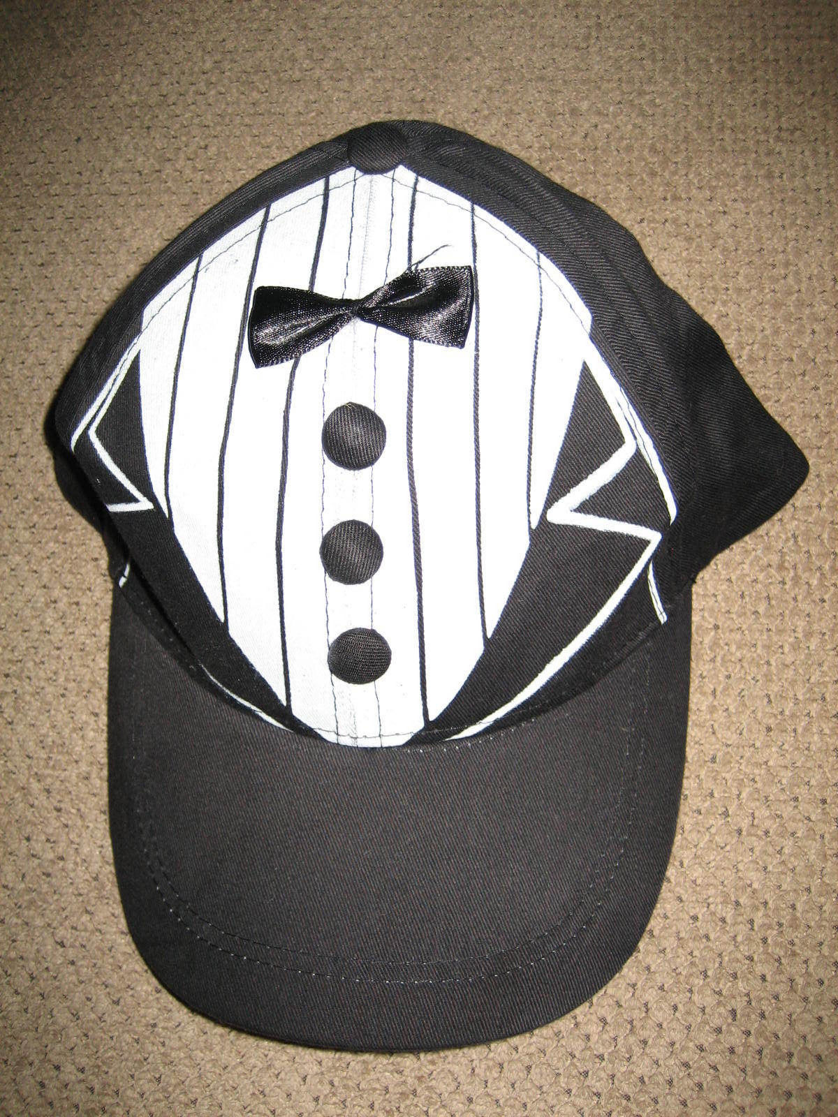 Primary image for NEW BLACK TUX CAP WEDDING PROMS FORMALS SIZE ADJUSTABLE