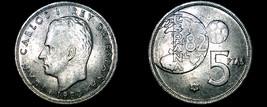 1980 (80) Spanish 5 Peseta World Coin - Spain - $3.99