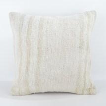 18x18 large white pillow white kilim pillow white pillow case home wihite pillow - $55.00