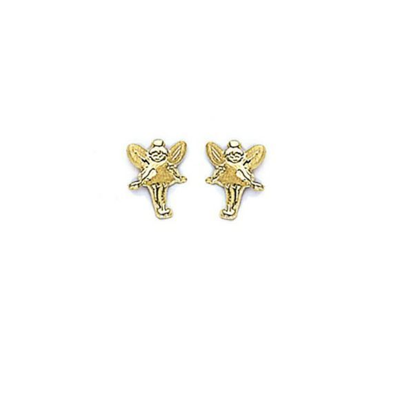 Primary image for 14K Gold Screw Back Tinkerbell Stud Earrings