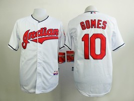 #10 Yan Gomes White Cleveland Indians MLB Jersey  - $37.99