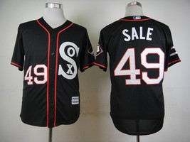 #49 Chris Sale Black Majestic Chicago White Sox MLB Jersey 2015 - $37.99