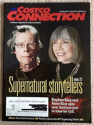 Primary image for Costco Connection October 2014 Stephen King Anne Rice Haunted Houses