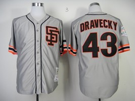 #43 Dave Dravecky Throwback Gray San Francisco Giants MLB Jersey - $37.99