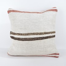 18x18 rug white pillow white kilim pillow white pillow case home wihite ... - $19.00