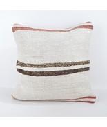 18x18 rug white pillow white kilim pillow white pillow case home wihite ... - $55.00