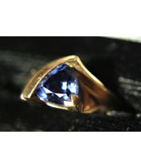 Dazzling - Tanzanite and 14K Yellow Gold Ring w/Diamond Accents - $198.00
