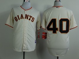 #40 Madison Bumgarner White San Francisco Giants Majestic MLB Jersey 2015 - $37.99