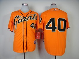 #40 Madison Bumgarner Orange San Francisco Giants Majestic MLB Jersey 2015 - $37.99