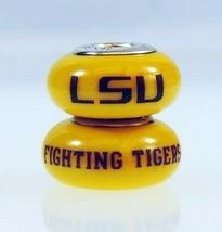 Fenton Yellow Glass Collegiate Bead Louisiana State LSU Sterling Silver ... - $35.00