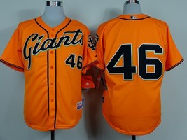 #46 Santiago Casilla Orange San Francisco Giants Majestic MLB Jersey 2015 - $37.99