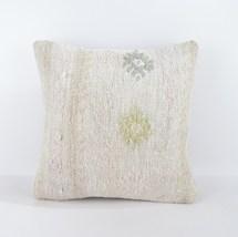 17x17 rug white pillow white kilim pillow white pillow case home wihite ... - $19.00