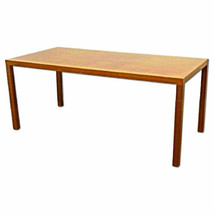 "72""L Silky Oak Desk Secretary Writing Conference Table Console Mid Centu... - $1,776.30"