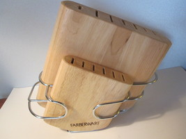 Farberware Cutlery Knife Block Metal Frame- 13 Slots - 2 pieces - $12.82