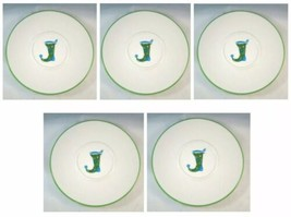 """Set Of 5~STARBUCKS Coffee Holiday 2006 Stocking snack plate saucer 6.5"""" ... - $18.71"""