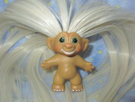 SMILING ROOTIE 3-IN Custom Troll Doll rooted vintage 60s Martian Moon Wand Alien image 2