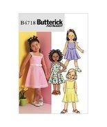 BUTTERICK PATTERNS B4718 Children's/Girls' Dress, Size CDD (2-3-4-5) - $8.29