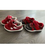 pre-owned SET of 2 Cat & Jack baby toddler boy shoes sz 5 red sneakers 5K - $14.75