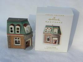 "2006 Hallmark Nostalgic Houses & Shops ""Corner Bank"" Christmas Ornament - $9.99"