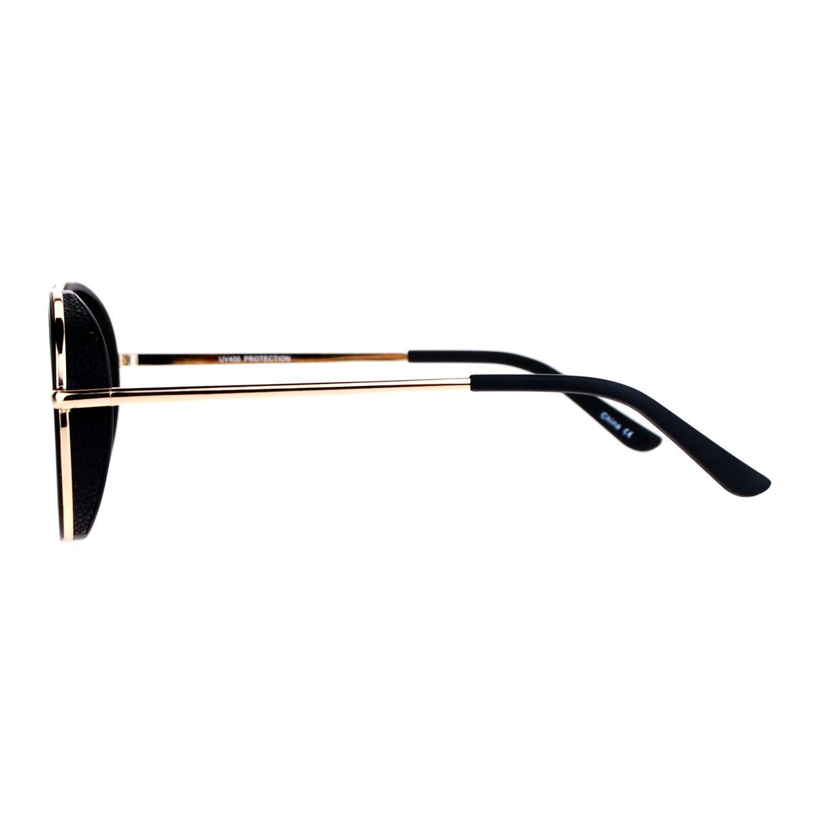 Flat Mirror Lens Sunglasses Designer Fashion Side Cover Aviators