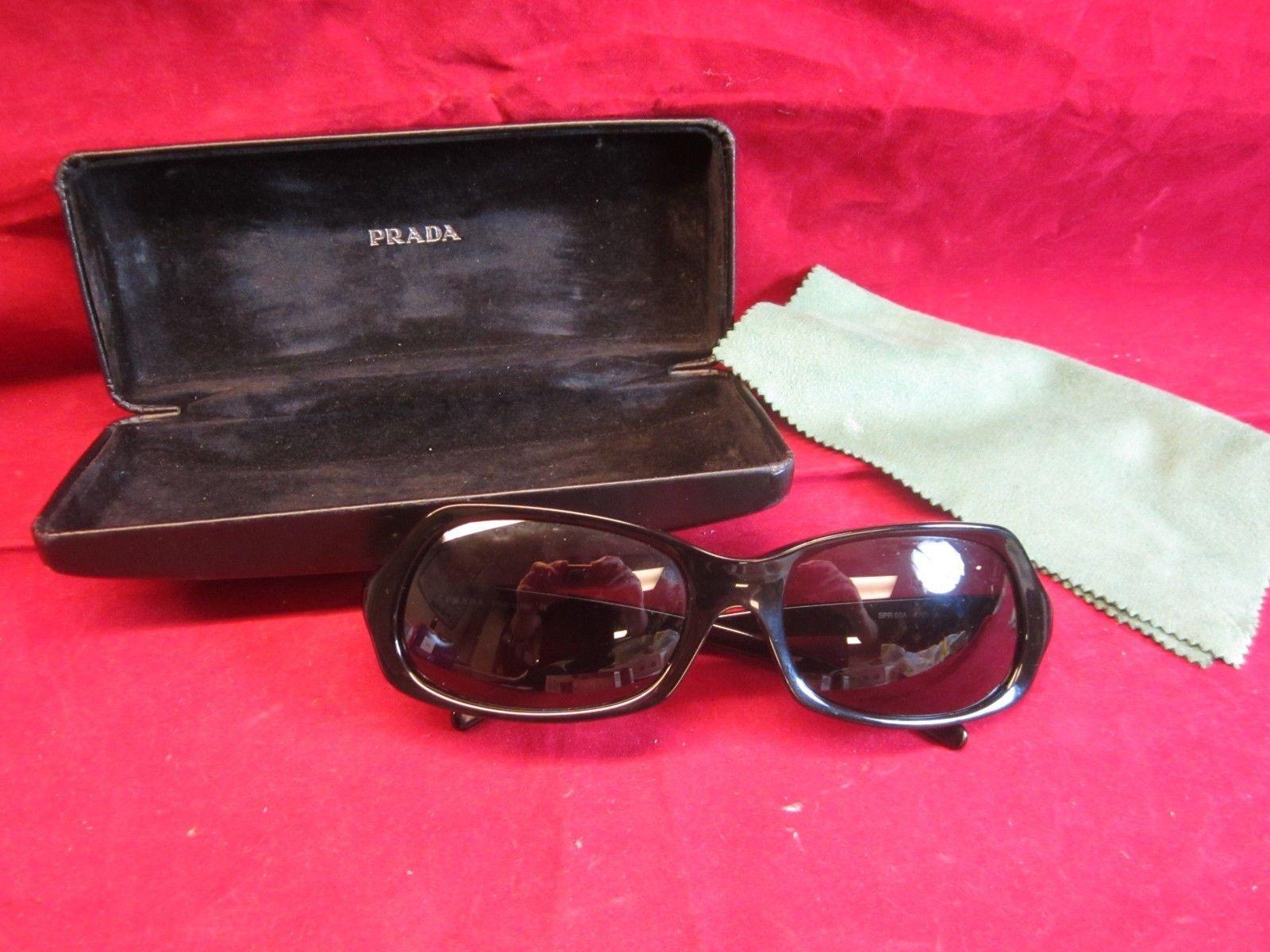 e765255990 S l1600. S l1600. Previous. Black Prada Unisex Over-Sized Rectangle Sunglasses  SPR 07A - EXC w Case