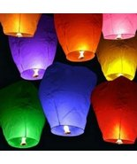 "12 Premium SKY LANTERNS 40"" Tall Hot Air Balloons - 6 ASSORTED COLORS - $9.17"