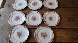 "Vintage Kings Rose By Rosenthal Set Of 8 Salad Plates 7.5"" - $98.99"