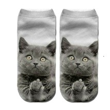 New Women Funny  Cartoon Shocks 3D Printed Low Ankle Socks Free  Shipping - $3.79