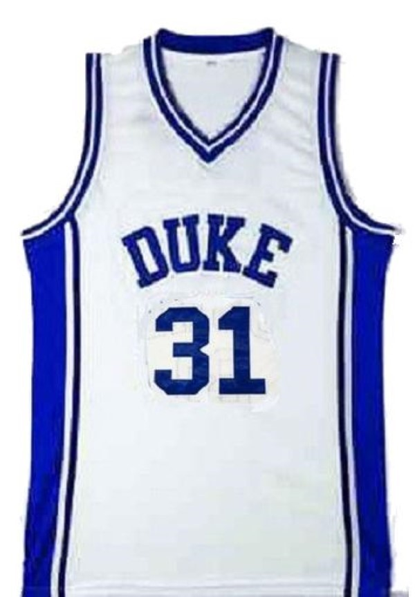 Shane Battier #31 College Basketball Custom Jersey Sewn White  Any Size