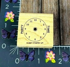 Stampin' Up! Party Time Clock Rubber Stamp 2007 Invitation Celebrate #K36 - $2.23
